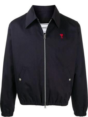 Ami Alexandre Mattiussi Blue Cotton Ami De Coeur Jacket