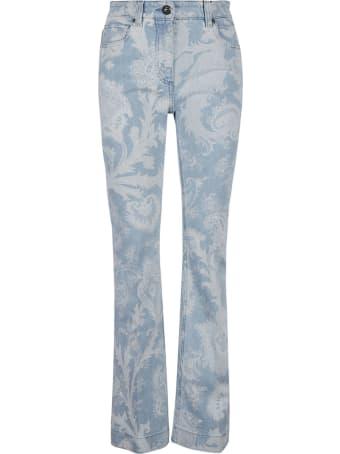 Etro Regular Fit Floral Printed Jeans
