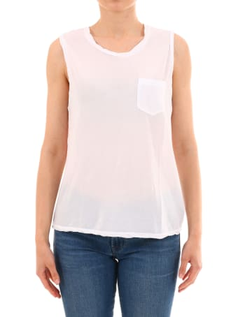 James Perse White Cotton Top