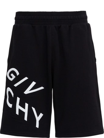 Givenchy Refracted Bermuda In Jersey With Logo Print