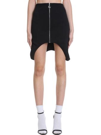 Lourdes Skirt In Black Cotton And Nylon