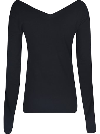 Emporio Armani Wide V-neck Sweater
