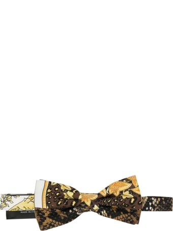 Young Versace Bow Tie With Print