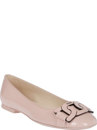 Tod's Pink Leather Ballerinas