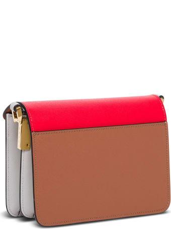 Marni Trunk Mini Crossbody Bag In Multicolor Leather