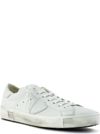 Philippe Model Prsx Basic White Leather Sneaker