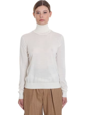 Golden Goose Ajisai Knitwear In Beige Wool