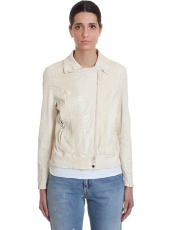 Salvatore Santoro Leather Jacket In White Leather