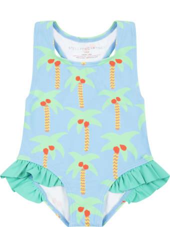 Stella McCartney Kids Light Blue Swimsuit For Babygirl