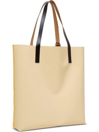 Marni Pvc Shopping Handbag With Logo