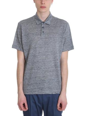 Ermenegildo Zegna Grey Cotton Polo Shirt