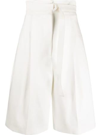 Philosophy di Lorenzo Serafini White Stretch-cotton Shorts