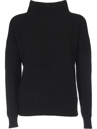Peserico Turtleneck Pullover In Black