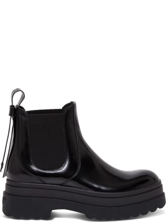 RED Valentino Chunky Boots In Black Leather