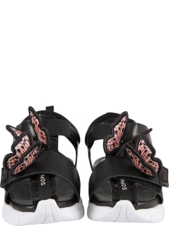 Sophia Webster Mini Black ''riva Wavy'' Sandals