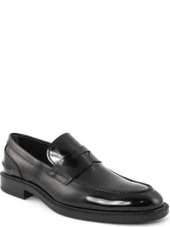 Tod's Loafers In Black Smooth Leather
