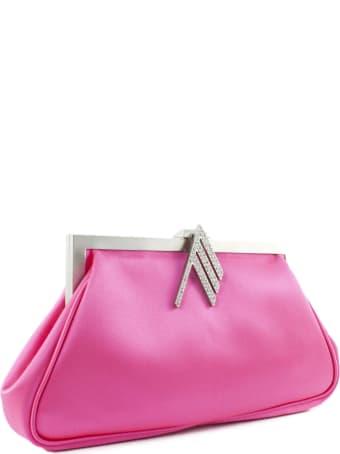 The Attico Handbag In Fuchsia Fabric