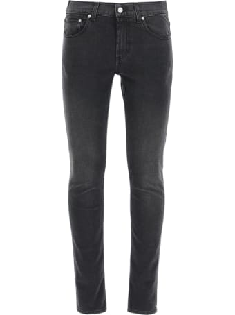 Alexander McQueen Slim Jeans With Logo Embroidery
