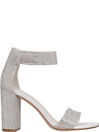 Jeffrey Campbell Lindsay Sandals In Silver Leather