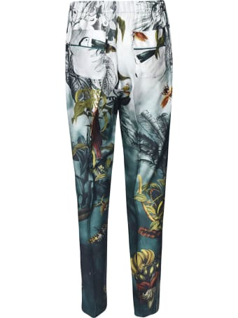 For Restless Sleepers Printed Detail Trousers