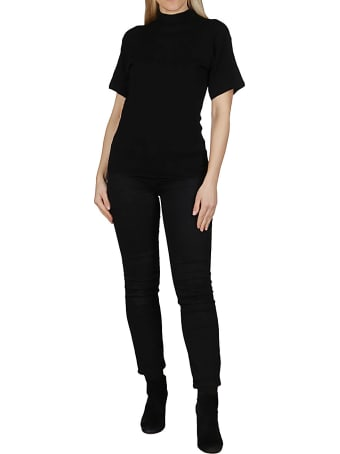 Malo Black Cotton T-shirt