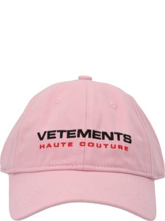 VETEMENTS 'insecurity' Cap