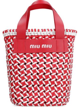 Miu Miu Leather Bucket Bag