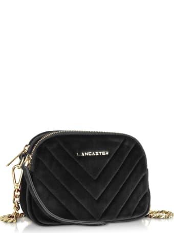 Lancaster Paris Quilted Velvet Couture Mini Camera/belt Bag