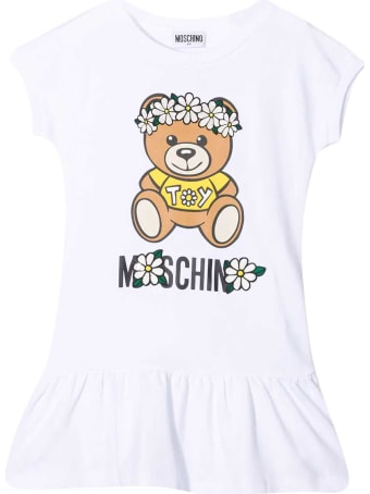 Moschino White Teen Dress With Toy Print
