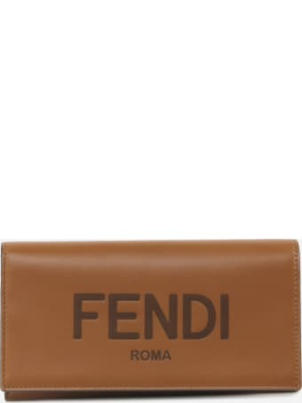 Fendi Continental Wallet In Calfskin