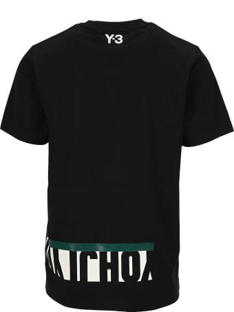 Y-3 Adidas Y3 Crew Neck Logo Printed T-shirt