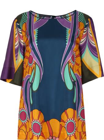 Alberta Ferretti Printed Silk Blouse