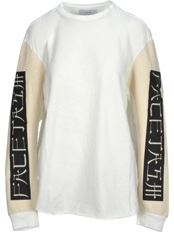 Facetasm Facetasm Sleeve Print T-shirt