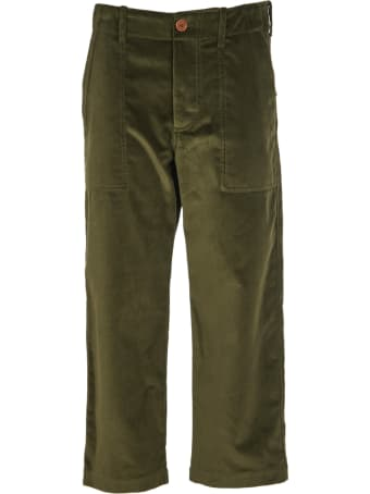 Jejia Green Courdoy Trousers