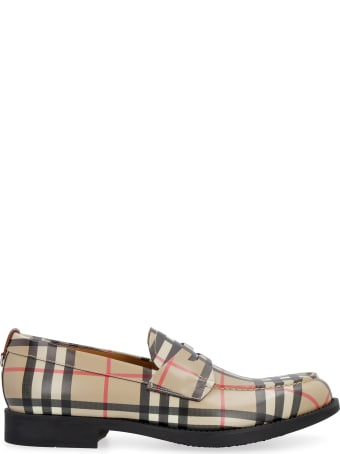 Burberry Printed Leather Loafers