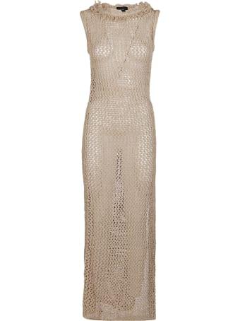 Alanui Beige Silk-cotton Blend Dress