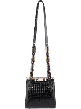 Nico Giani Olivia Croco-print Leather Shoulder Bag