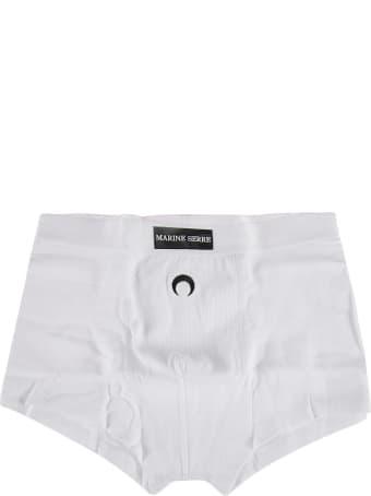Marine Serre Logo Patched Crescent Boxer Shorts