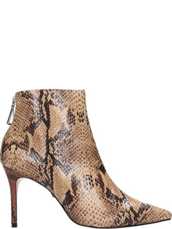 Schutz Avory Ankle Boots In Animalier Leather