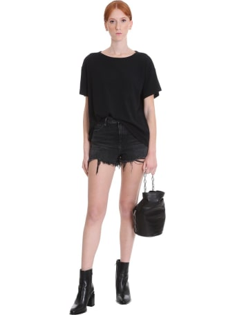 T by Alexander Wang T-shirt In Black Cotton