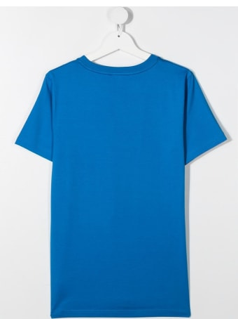 Givenchy Blue Jersey T-shirt With Logo