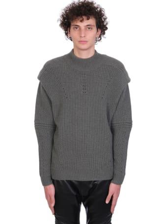 Jacob Lee Knitwear In Khaki Cashmere