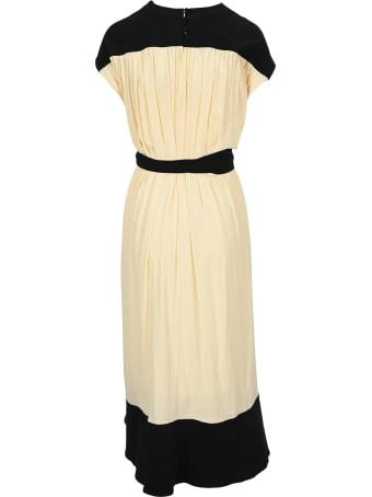 Proenza Schouler Short Sleeve Combo Cape Dress