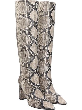 The Seller High Heels Boots In Animalier Leather