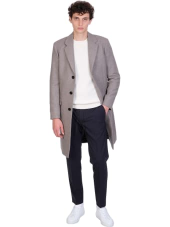 Theory Hunter Pants In Blue Wool