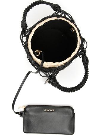 Miu Miu Net Bucket Bag With Basket