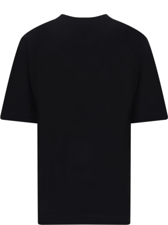 Jeremy Scott Black T-shirt For Girl With Silver Logo