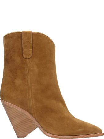 The Seller Low Heels Ankle Boots In Leather Color Suede