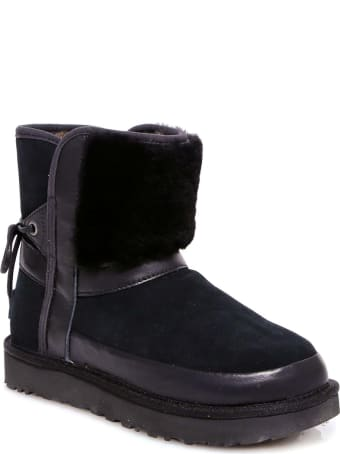 UGG Classic Leopard Lined Bow Boots