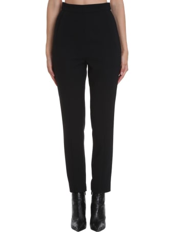 self-portrait Pants In Black Polyester